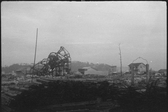Estruturas Metálicas Hiroshima foram torcida pelo calor da explosão