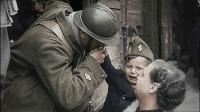 Soldados frances se despede da família para ir ao front