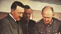 Na Segunda Guerra Mundial, Alemanha. Hitler, Von Keitel e Jodl de uniforme