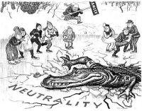 Churchil adverte que a neutralidade não vai salvar pequenas nações da agressão nazista.