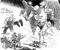 Os soldados ingleses lutam contra a máquina de guerra nazista enquanto trabalhadores se empenha a produção de armas.