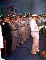 Rendição Japonesa - USS Missouri na baía de Tóquio