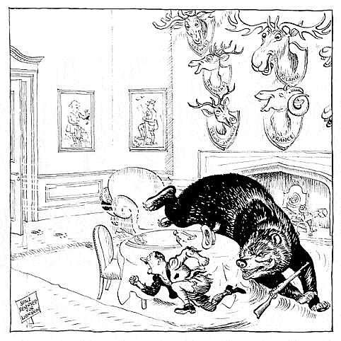 No final de 1944, o urso russo estava ameaçando entrar na casa de Hitler