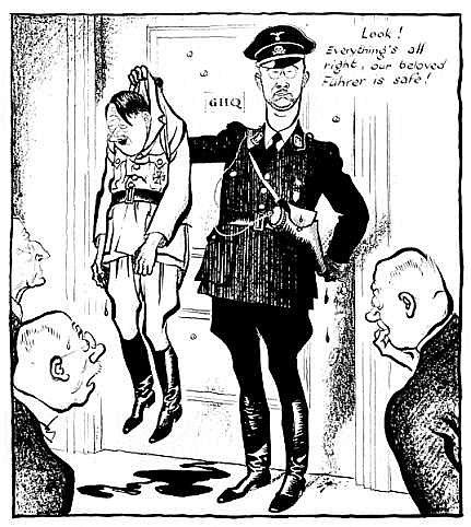 Depois da tentativa fracassada de assassinar Hitler em julho de 1944