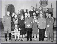 Adolf Hitler, com convidados no Berghof na Véspera de Ano Novo de 1939