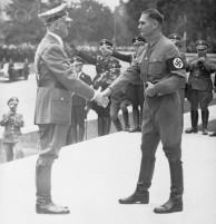 Hitler Shaking Hands With Rudolf Hess