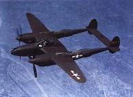 P-38H-5 com um motor de penas; muitos disseram neste avião terai um motor perdido; 1943