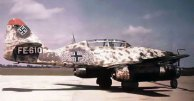 Me 262 B-1a/U1 caça noturno (convertido de dois lugares trainer), pós-guerra