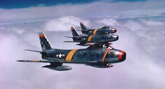 F-86 Sabres na Coreia