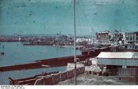 Russland, Sewastopol, zerstörter Hafen