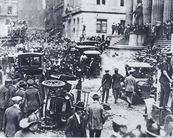"""O """"bombardeio"""" de Wall Street"""