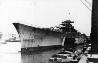 Lançamento do Bismarck, Hamburgo, Alemanha, 14 de fevereiro de 1939