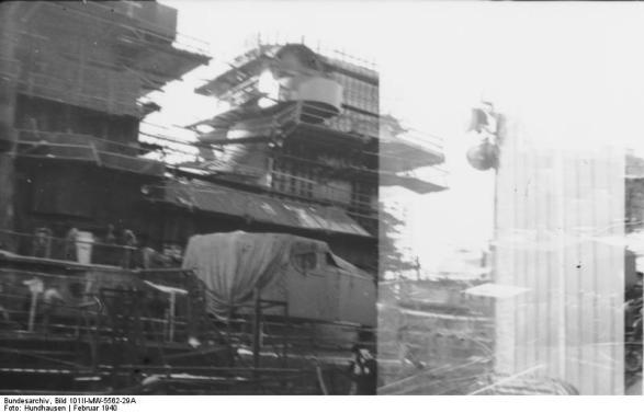 vista da popa do Bismarck, 1940-1941
