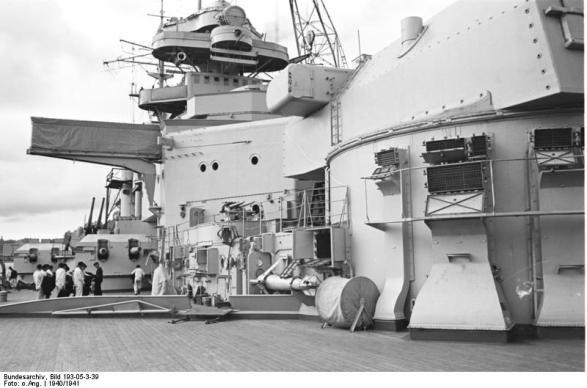 Ver popa do Bismarck, 1940-1941