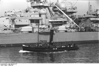 Vista da superestrutura encouraçado Bismarck,1940-1941