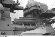 Vista da superestrutura encouraçado Bismarck, 1940-1941, foto 5 de 5