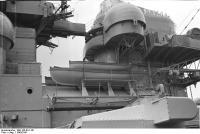 Vista da superestrutura encouraçado Bismarck, 1940-1941, foto 5 de5