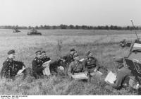 Westfeldzug, Rommel bei Besprechung mit Offizieren