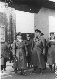 Atlantikwall, Erwin Rommel mit Admiral Ruge