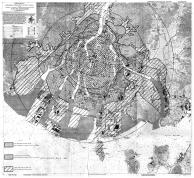 Mapa que mostra as áreas atingindas pela bomba
