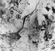Vista aérea de Nagasaki depois da bomba.