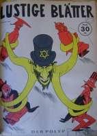 A legenda: Um judeu tem seus tentáculos por toda a Inglaterra, Rússia, Estados Unidos e China. Edição 27/1943