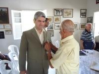 Recebendo a Medalha do Veterano Gastão