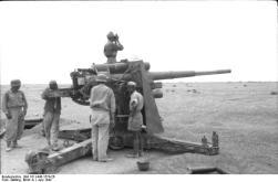 Nordafrika, Flakgeschütz