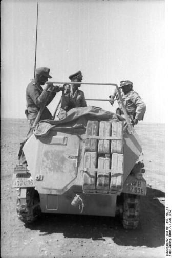 Nordafrika, Rommel in Befehlsfahrzeug