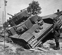 Em muitos casos, os Vermelhos estavam tentando rebocar seus tanques sob o manto da escuridão. Nossos soldados haviam frustrado a maioria destas tentativas, e agora este grande ninhada de monstros poderosos estava nas ruas onde foram abatidos em combate.