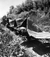 Este trem de munição bem camuflado estava entregando suprimentos para os soviéticos