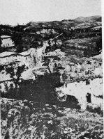 Montese 1945 após bombardeio neste local passava a LinhaGótica