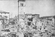 Montese destruída pela fogo alemão e aliado