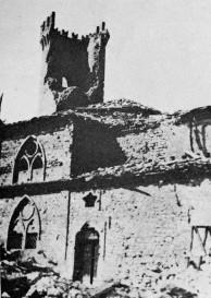 Montese - Igreja e Torre detruídas após bombardeio de 1945