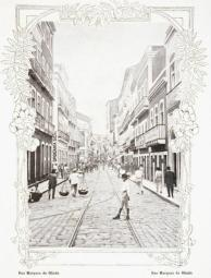 Rua Marquês de Olinda. Uma das principais ruas do Recife Antigo