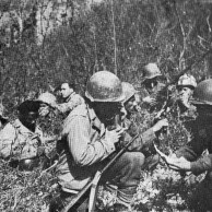 Patrulha da FEB na região entre Montese e Fanano antes do ataque final
