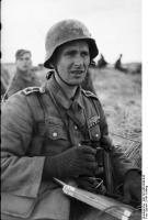 Russland, Soldat mitFernglas