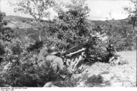 Italien, Gebirgsjäger mit schwerem MG42