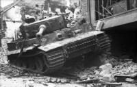 Villers-Bocage, zerstörter Panzer VI (TigerI)