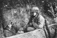 Frankreich.- SS-Panzergrendiere im Sch¸tzenloch