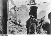 Monte Cassino, Bergung von Verwundeten