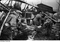 Russland, Verwundetentransport mit Fieseler Storch