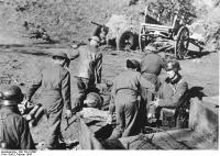 Italien, Nettuno, britische Kriegsgefangene, Verwundete