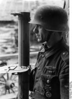 Westfront, bei Metz, Grenadier mit Panzerschreck