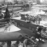 Produktion von Flugzeug Heinkel He 111 P-4