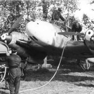 Flugzeug Messerschmitt Me 110, Betanken