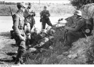 Frankreich, deutschen Soldaten bei Rast