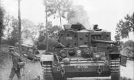 Villers-Bocage, zerstˆrter britischer Panzer