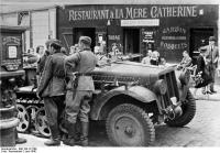 Frankreich, Deutsche Soldaten inParis