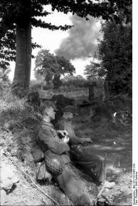 Frankreich, Soldaten bei Pause